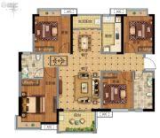 广州融创万达文化旅游城4室2厅2卫119平方米户型图