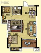 碧桂园・翡翠山3室2厅1卫81平方米户型图