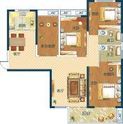 深业世纪新城4室2厅2卫123平方米户型图