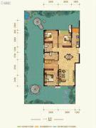 康田紫悦府3室2厅2卫98平方米户型图