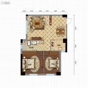 金沙星城2室2厅1卫101平方米户型图