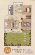 金杉・西城华府3室2厅1卫95--105平方米户型图