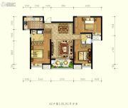德杰状元府邸3室2厅1卫105平方米户型图