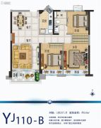 碧桂园南阳首府3室2厅1卫108平方米户型图
