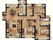 保利翡丽公馆3室2厅1卫117平方米户型图