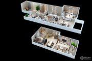 中航樾公馆3室2厅1卫109平方米户型图