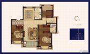 绿地华侨城海珀滨江3室2厅2卫133平方米户型图