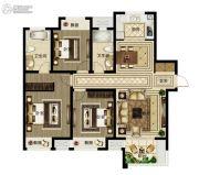 绿都澜湾3室2厅2卫130平方米户型图
