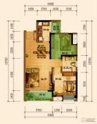 君汇上品1室1厅1卫72平方米户型图