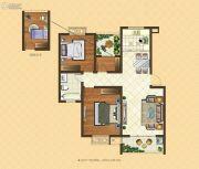 格林悦城3室2厅1卫91平方米户型图