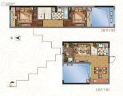中铁逸都2室2厅2卫76平方米户型图