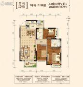 江宇都会明珠3室2厅2卫115平方米户型图