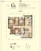 国博城4室2厅2卫91平方米户型图