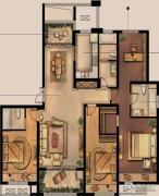 绿地峰云汇4室2厅3卫160平方米户型图