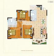 鹰城商贸中心3室2厅2卫145平方米户型图