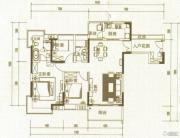 中惠国际金融中心3室2厅2卫135平方米户型图