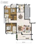 海�Z天翡3室2厅3卫191平方米户型图