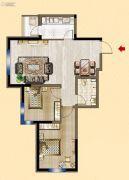 明发锦绣华城2室2厅1卫83平方米户型图