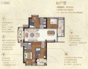 三盛海德公园4室2厅2卫136平方米户型图