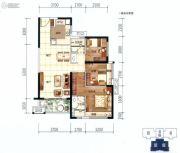 美的西海岸3室2厅2卫89平方米户型图