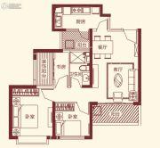 恒大帝景3室2厅1卫85平方米户型图