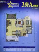 祈福南湾半岛3室2厅2卫112--117平方米户型图