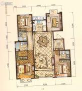 中梁・悦荣府4室2厅3卫140平方米户型图