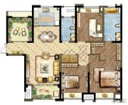 世茂香槟湖4室2厅2卫140平方米户型图