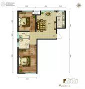 磊阳天府2室2厅1卫102平方米户型图