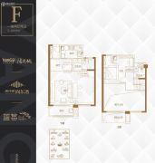 阳光城・尚东湾1室2厅2卫106平方米户型图