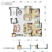兴庆府大院3室2厅2卫168平方米户型图
