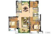朗诗青春街区3室2厅2卫97平方米户型图