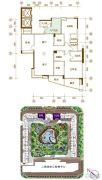 景观一品5室2厅3卫194平方米户型图