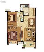 美的城三街区2室2厅1卫85平方米户型图