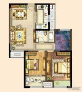 港龙新港城2室2厅1卫88平方米户型图
