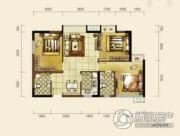 双发东城印象3室2厅2卫84平方米户型图