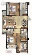 绿城深蓝公寓3室2厅2卫122平方米户型图