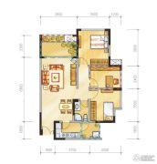 金地天府城3室2厅1卫85平方米户型图