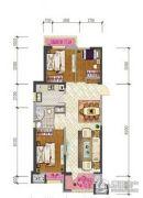 车城万达广场3室2厅1卫105平方米户型图