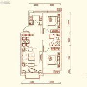 特变水木融城2室2厅1卫77平方米户型图