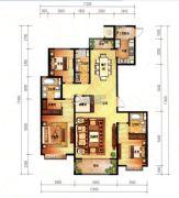 大成・逐鹿会3室2厅3卫192平方米户型图