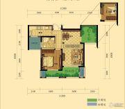 弘阳广场2室2厅1卫73平方米户型图