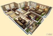 车城万达广场4室2厅2卫140平方米户型图
