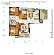 中国电建・湘熙水郡4室2厅2卫125平方米户型图