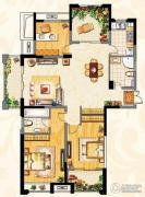 阳光龙庭3室2厅2卫138平方米户型图