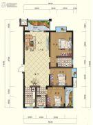 鸿大中域3室2厅1卫118平方米户型图