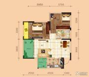 金鹏两江时光2室2厅0卫66平方米户型图