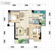 明珠广场2室2厅1卫87平方米户型图
