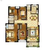 丽景湾华庭4室2厅2卫136平方米户型图