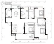 梧桐邑・九棠府4室2厅2卫145平方米户型图